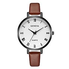 お買い得  レディース腕時計-Geneva 女性用 リストウォッチ 中国 新デザイン / カジュアルウォッチ / クール レザー バンド カジュアル / ファッション ブラック / レッド / ブラウン