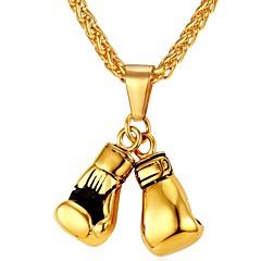 Недорогие Ожерелья-Муж. Веревка Ожерелья с подвесками - Нержавеющая сталь Мода Золотой, Серебряный 55 cm Ожерелье 1шт Назначение Подарок, Повседневные