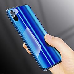 Недорогие Кейсы для iPhone 6-Кейс для Назначение Apple iPhone X / iPhone 8 Покрытие Кейс на заднюю панель Однотонный Твердый Закаленное стекло для iPhone X / iPhone 8 Pluss / iPhone 8