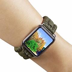 abordables Novedades-Ver Banda para Apple Watch Series 4/3/2/1 Apple Correa de Cuero Nailon / Cuero Auténtico Correa de Muñeca