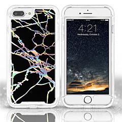 Недорогие Кейсы для iPhone 7 Plus-Кейс для Назначение Apple iPhone X / iPhone 8 Рельефный / С узором Кейс на заднюю панель Мрамор Мягкий ТПУ для iPhone X / iPhone 8 Pluss / iPhone 8