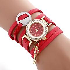 preiswerte Damenuhren-Damen Armband-Uhr Quartz Armbanduhren für den Alltag Imitation Diamant PU Band Analog Freizeit Modisch Schwarz / Weiß / Blau - Beige Rot Blau Ein Jahr Batterielebensdauer
