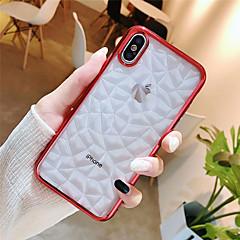 Недорогие Кейсы для iPhone-Кейс для Назначение Apple iPhone X / iPhone 8 Покрытие Кейс на заднюю панель Геометрический рисунок Мягкий ТПУ для iPhone X / iPhone 8 Pluss / iPhone 8
