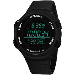 お買い得  メンズ腕時計-SYNOKE 男性用 スポーツウォッチ / デジタルウォッチ カレンダー / クロノグラフ付き / 耐水 PU バンド ファッション ブラック / グレー / ネービー