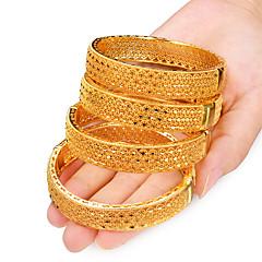 preiswerte Armbänder-4pcs Damen Klassisch Armreife Manschetten-Armbänder - vergoldet Kreativ damas, Luxus, Ethnisch Armbänder Schmuck Gelb Für Party Geschenk