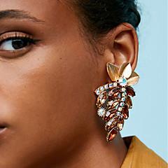 abordables Bijoux pour Femme-Femme Creux Boucles d'oreille goujon - Fleur, Botanique Luxe, Coréen, Mode Marron / Vert / Bleu Pour Carnaval Soirée