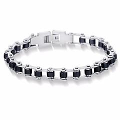 preiswerte Armbänder-Herrn Stilvoll Gliederarmband - Titanstahl Kreativ Stilvoll, Einfach, Koreanisch Armbänder Schwarz Für Geschenk Alltag