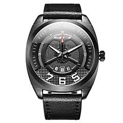 preiswerte Herrenuhren-Herrn Kleideruhr Armbanduhr Quartz 30 m Wasserdicht Neues Design LCD Echtes Leder Band digital Freizeit Modisch Schwarz / Braun - Schwarz / Braun Schwarz / Rot Schwarz / Weiß