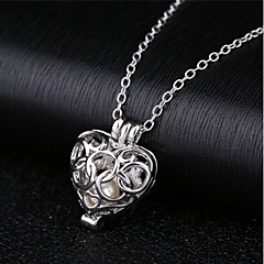 cheap Necklaces-Women's Hollow Pendant Necklace - Cute Silver 45 cm Necklace Jewelry 1pc For Daily