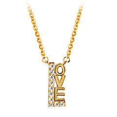 preiswerte Halsketten-Damen Kubikzirkonia Anhängerketten - 18K vergoldet, S925 Sterling Silber Liebe Zierlich Gold 40 cm Modische Halsketten Für Geschenk, Alltag
