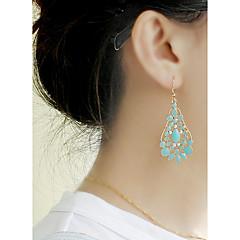 preiswerte Ohrringe-Damen Crossbody Tropfen-Ohrringe - Glücklich Grundlegend, Modisch Gelb / Grün / Blau Für Alltag / Verabredung