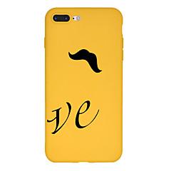 Недорогие Кейсы для iPhone 5-Кейс для Назначение Apple iPhone X / iPhone 8 Plus С узором Кейс на заднюю панель Слова / выражения / Мультипликация Мягкий ТПУ для iPhone X / iPhone 8 Pluss / iPhone 8