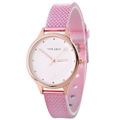 お買い得  レディース腕時計-Xu™ 女性用 リストウォッチ クォーツ ブラック / 白 / ブルー 新デザイン カジュアルウォッチ 愛らしいです ハンズ レディース カジュアル ファッション - レッド ブルー ピンク 1年間 電池寿命