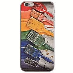 お買い得  iPhone 5S/SE ケース-ケース 用途 Apple iPhone X / iPhone 8 超薄型 / パターン バックカバー 油絵 ソフト TPU のために iPhone X / iPhone 8 Plus / iPhone 8
