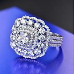 preiswerte Ringe-Damen Kubikzirkonia Stapel Ring - Platiert Blume Luxus, Europäisch, Romantisch 5 / 6 / 7 Gelb / Rosa / Gold-Wein Für Geschenk / Formal