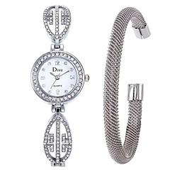 お買い得  レディース腕時計-女性用 ドレスウォッチ / ブレスレットウォッチ 中国 クリエイティブ ステンレス バンド エレガント シルバー