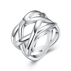 preiswerte Ringe-Damen Stilvoll Bandring - Kupfer, versilbert Kreativ Stilvoll, Einzigartiges Design 7 / 8 Silber Für Alltag Arbeit