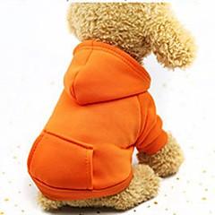 お買い得  犬用ウェア&アクセサリー-犬用 / 猫用 / 小型ペット用 パーカー / スウェットシャツ / セット 犬用ウェア ソリッド コーヒー / レッド / ピンク コットン コスチューム ペット用 女性 スポーツ&アウトドア / カジュアル / スポーティ