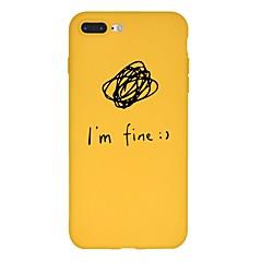 Недорогие Кейсы для iPhone 6 Plus-Кейс для Назначение Apple iPhone X / iPhone 8 Plus С узором Кейс на заднюю панель Слова / выражения / Мультипликация Мягкий ТПУ для iPhone X / iPhone 8 Pluss / iPhone 8