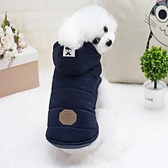 abordables Accesorios y Ropa para Perros-Roedores / Perros / Conejos Chaquetas de Plumón Ropa para Perro Un Color Gris / Azul Claro Algodón Disfraz Para mascotas Mujer Moda / Euramerican