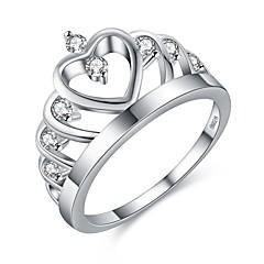 preiswerte Ringe-Damen Kubikzirkonia Stilvoll Ring - Kupfer, versilbert Stilvoll 6 / 7 / 8 / 9 Silber Für Geburtstag Büro & Karriere