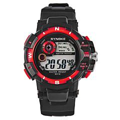 お買い得  メンズ腕時計-SYNOKE 男性用 スポーツウォッチ / デジタルウォッチ 日本産 カレンダー / クロノグラフ付き / 耐水 PU バンド ファッション ブラック