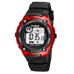 お買い得  メンズ腕時計-SYNOKE 男性用 / 女性用 スポーツウォッチ / デジタルウォッチ カレンダー / クロノグラフ付き / 耐水 PU バンド ファッション ブラック