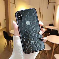 Недорогие Кейсы для iPhone 6-Кейс для Назначение Apple iPhone X / iPhone 8 Plus Покрытие / Прозрачный Кейс на заднюю панель Геометрический рисунок Мягкий ТПУ для iPhone X / iPhone 8 Pluss / iPhone 8
