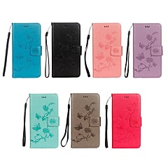 abordables Fundas para iPhone X-Funda Para Apple iPhone X / iPhone 8 Cartera / Soporte de Coche / con Soporte Funda de Cuerpo Entero Mariposa / Flor Dura Cuero de PU para iPhone X / iPhone 8 Plus / iPhone 8