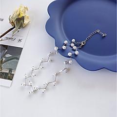 preiswerte Halsketten-Damen Stilvoll Übergang Halsketten / Perlenkette - Künstliche Perle Blattform Stilvoll, Künstlerisch, Elegant Gold, Silber 40 cm Modische Halsketten Schmuck 1pc Für Verabredung, Arbeit