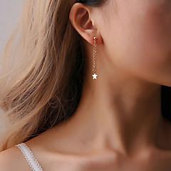 preiswerte Ohrringe-Damen Quaste Tropfen-Ohrringe - Kreativ, Stern Beiläufig / sportlich, Koreanisch, Modisch Gold / Silber Für Geschenk Alltag Party
