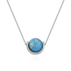 preiswerte Halsketten-Damen Stilvoll Anhängerketten - Kugel Stilvoll, Einfach, Europäisch Rot, Hellblau, Dunkelgrün 40 cm Modische Halsketten Schmuck 1pc Für Normal