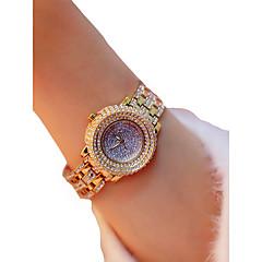 お買い得  レディース腕時計-女性用 リストウォッチ クロノグラフ付き / 光る / カジュアルウォッチ 合金 バンド ぜいたく / 光沢タイプ シルバー / ゴールド