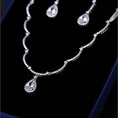 abordables Juegos de Joyería-Mujer Zirconia Cúbica Elegante Conjunto de joyas - Gota Vintage, Moda Incluir Pendientes colgantes Collares con colgantes Blanco Para Boda Fiesta de Noche
