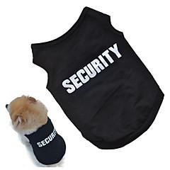 お買い得  犬用ウェア&アクセサリー-犬用 ベスト 犬用ウェア メッセージ ブラック / ピンク コットン コスチューム ペット用 男女兼用 コスプレ