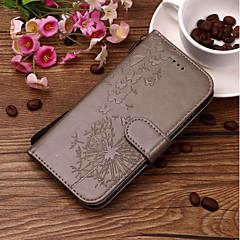 Недорогие Кейсы для iPhone 7-Кейс для Назначение Apple iPhone X / iPhone 8 Кошелек / Бумажник для карт / со стендом Чехол одуванчик Твердый Кожа PU для iPhone X / iPhone 8 Pluss / iPhone 8