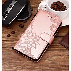 Недорогие Чехлы и кейсы для Sony-Кейс для Назначение Sony Xperia XZ2 / Xperia XA2 Кошелек / Бумажник для карт / со стендом Чехол Кружева Печать Твердый Кожа PU для Xperia XZ2 / Xperia XA2