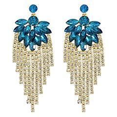 preiswerte Ohrringe-Damen Kristall Stilvoll / Geometrisch Tropfen-Ohrringe - Glücklich Grundlegend, Modisch Rot / Blau Für Alltag / Verabredung