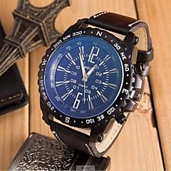 preiswerte Armbanduhren für Paare-Herrn / Paar Sportuhr / Armbanduhr Chinesisch Armbanduhren für den Alltag / lieblich Leder Band Freizeit / Modisch Schwarz / Braun / Khaki