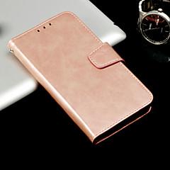 Недорогие Чехлы и кейсы для Xiaomi-Кейс для Назначение Xiaomi Redmi Примечание 5A / Mi 5X Кошелек / Бумажник для карт / Флип Чехол Однотонный Твердый Кожа PU для Redmi Note 5A / Xiaomi Redmi Note 5 Pro / Xiaomi Redmi Note 4X