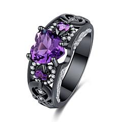preiswerte Ringe-Damen Skulptur Statement-Ring Ring - Kupfer, Diamantimitate Herz Stilvoll, Gothik, Mehrfarbig 6 / 7 / 8 / 9 / 10 Rot / Blau / Rosa Für Party Nacht Besondere Anlässe