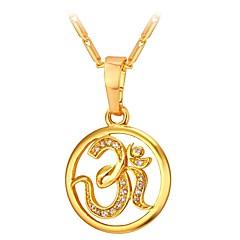 お買い得  ネックレス-女性用 キュービックジルコニア ペンダントネックレス  -  創造的 ファッション ゴールド, シルバー 55 cm ネックレス ジュエリー 1個 用途 贈り物, 日常