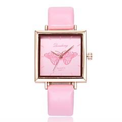 preiswerte Damenuhren-Damen Kleideruhr / Armbanduhr Chinesisch Armbanduhren für den Alltag PU Band Freizeit / Modisch Schwarz / Weiß / Grün