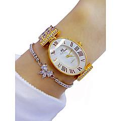お買い得  レディース腕時計-女性用 リストウォッチ クロノグラフ付き / 光る / かわいい 合金 バンド 光沢タイプ / ファッション ゴールド