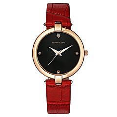 preiswerte Damenuhren-SANDA Damen Kleideruhr Armbanduhr Japanisch Quartz Schwarz / Weiß / Rot 30 m Wasserdicht Neues Design Armbanduhren für den Alltag Analog damas Freizeit Modisch - Rot Rosa Schwarz / Weiß