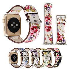 abordables Accessoires Apple Watch-Bracelet de Montre  pour Apple Watch Series 4/3/2/1 Apple Bracelet en Cuir Cuir / Polyuréthane Sangle de Poignet