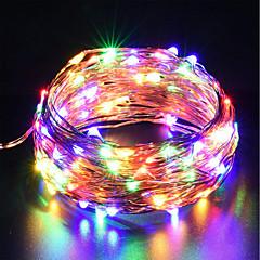 preiswerte LED Lichtstreifen-zdm usb kupferdraht lichter fairy string 10m / 33ft 100leds mit 7 verschiedenen farben rgb ändern automatisch wasserdicht starry dcor seil lichter weihnachten streifenlichter (automatischer farbwechse