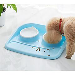 お買い得  犬用品-0.4 L L 犬用 / 猫用 フィーダ / 食品の保管 ペット用 ボウル&摂食 多層式 / カジュアル/普段着 グリーン / ブルー / ピンク