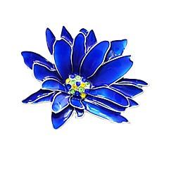 お買い得  ブローチ-女性用 スタイリッシュ ブローチ  -  フラワー スタイリッシュ, クラシック ブローチ ブルー 用途 日常