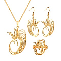 お買い得  ジュエリーセット-女性用 ジュエリーセット  -  鳥 ヴィンテージ 含める フープピアス / ペンダントネックレス / 指輪 ゴールド 用途 贈り物 / 日常